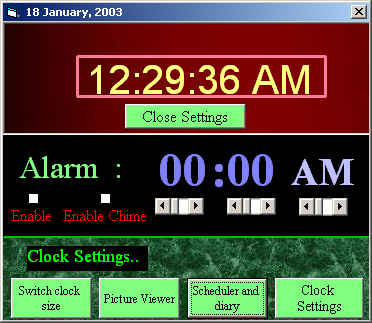 Screenshot of Time Organizer V 1.0
